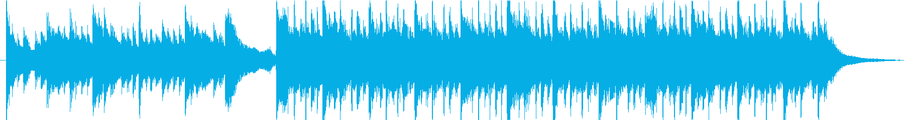 アコースティックギターのポップスの再生済みの波形