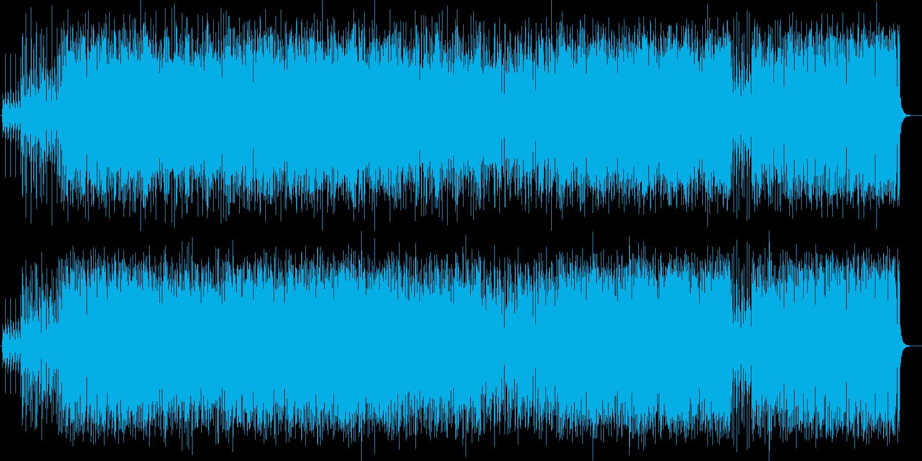 陽気でノリのよいテクノポップスの再生済みの波形