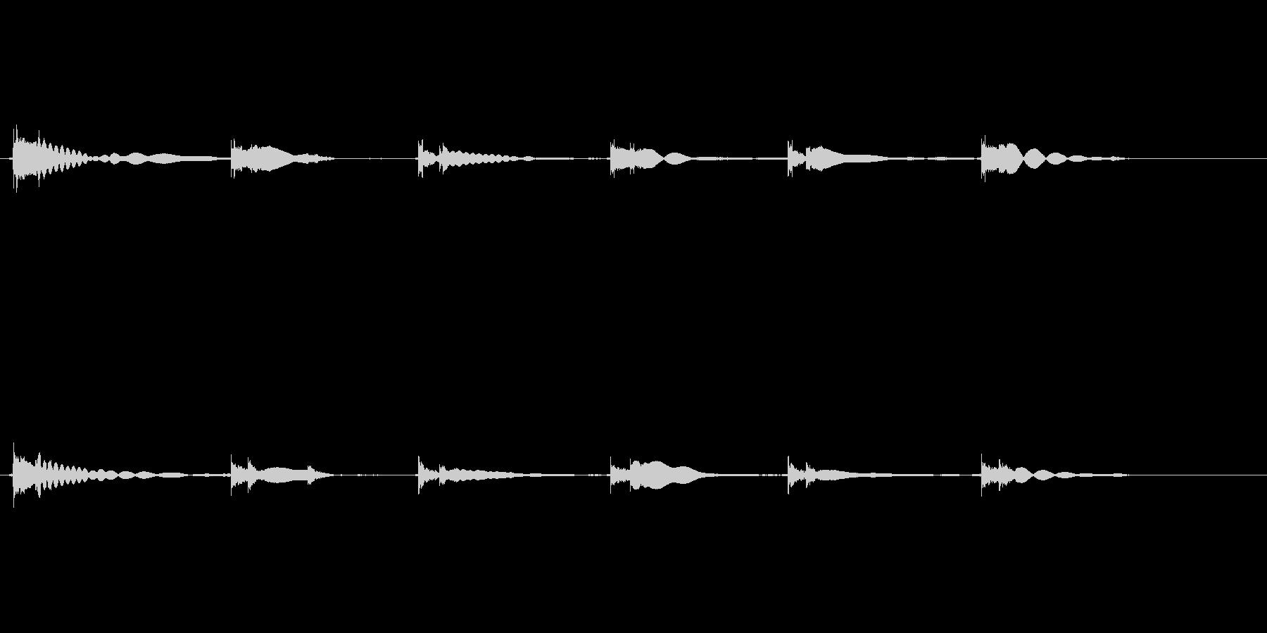 エレキギター65弦チューニング リバーブの未再生の波形