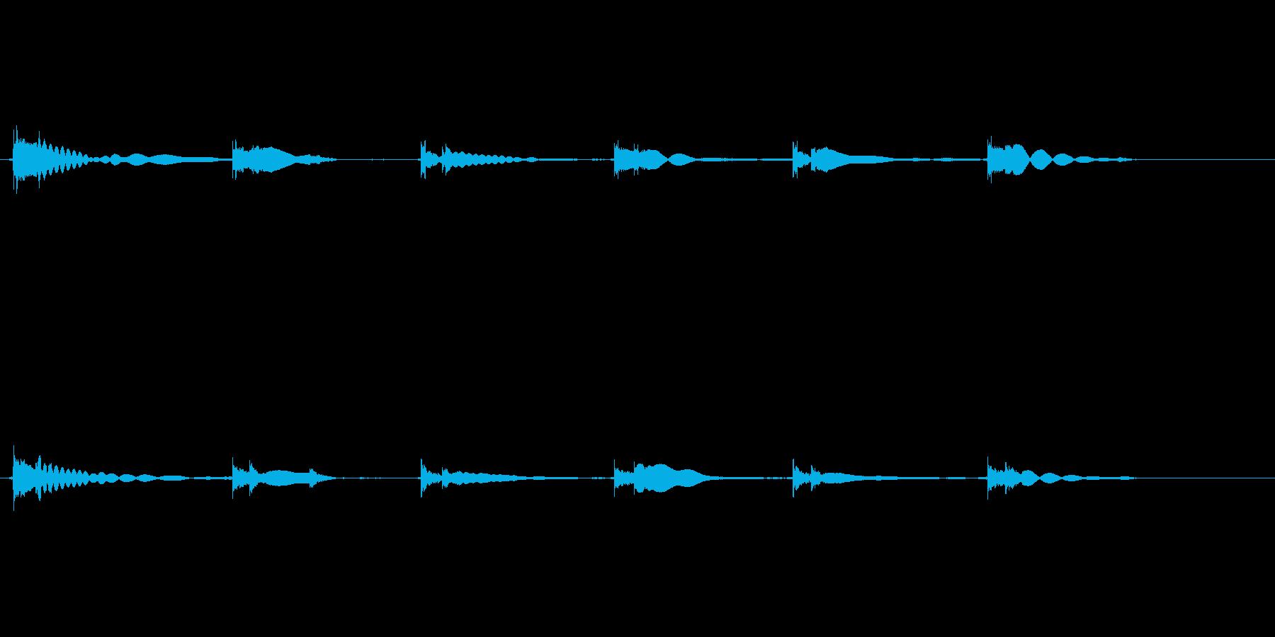 エレキギター65弦チューニング リバーブの再生済みの波形