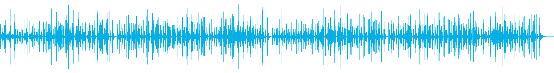 ピアノソナタ オルフ木琴の再生済みの波形