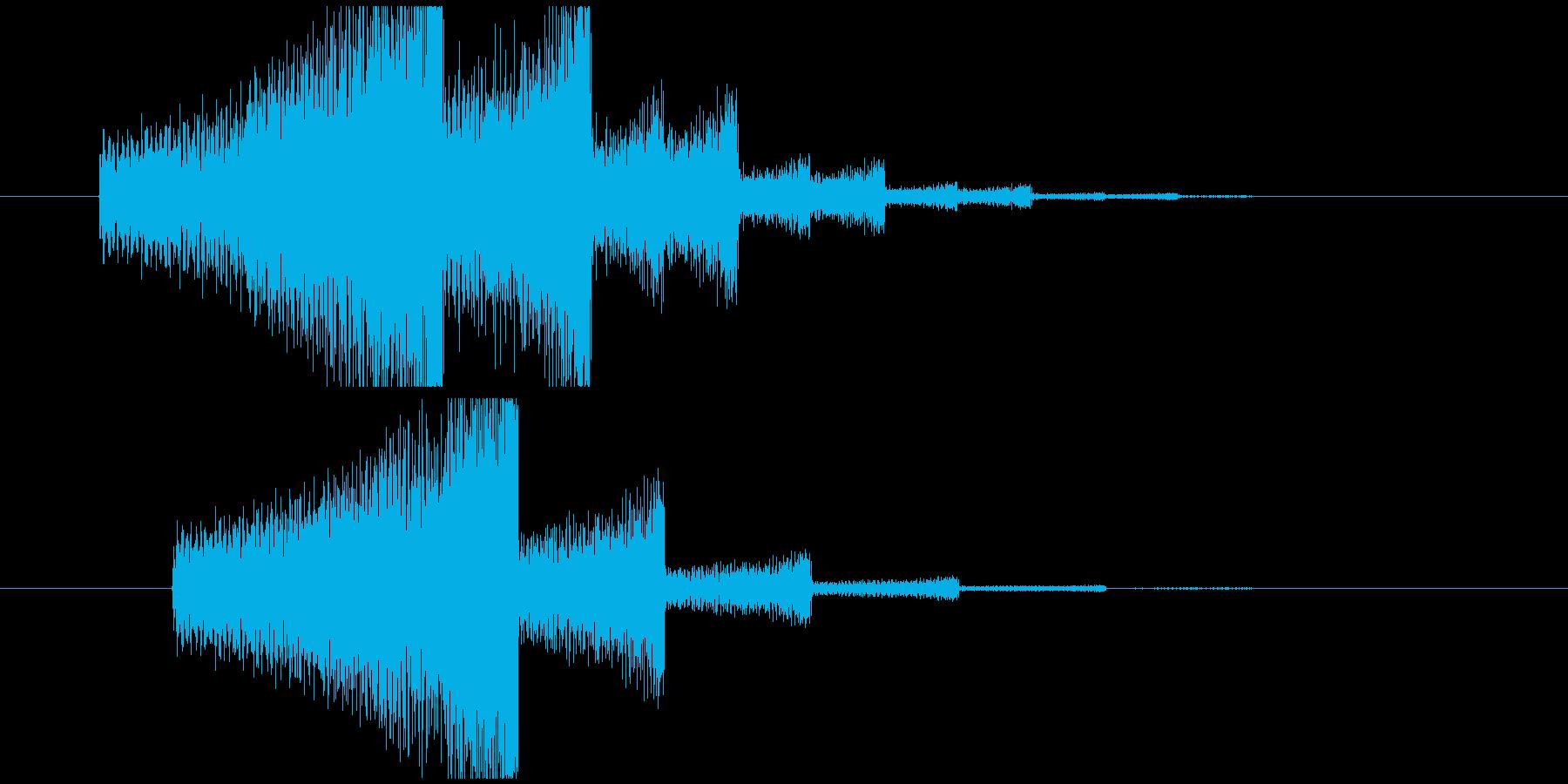 エレキギター音(回想)の再生済みの波形