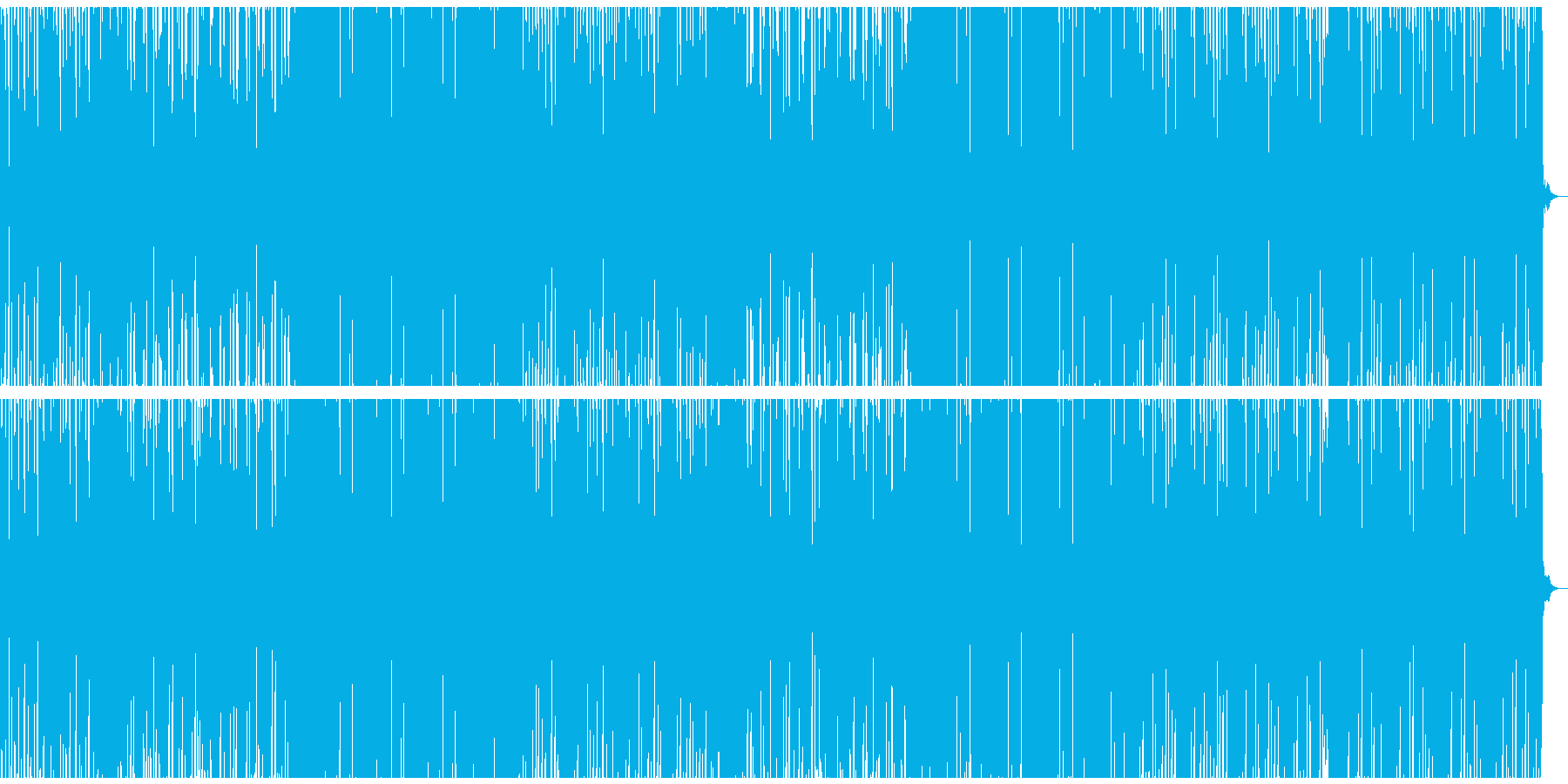 EDM風バラードの再生済みの波形