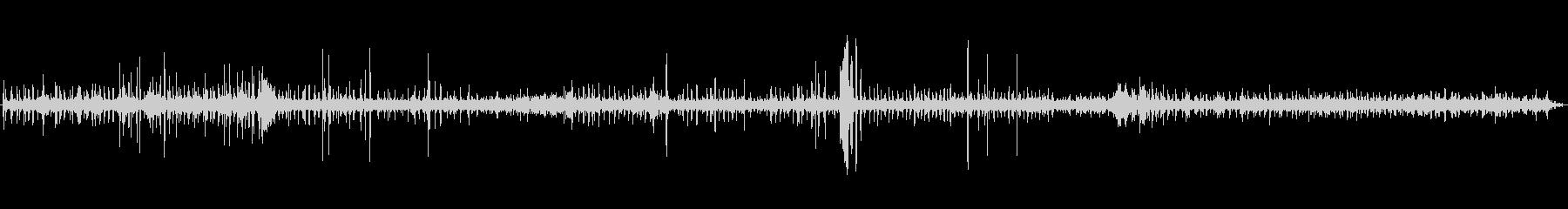 木にマイクを設置して数時間録音したもの…の未再生の波形