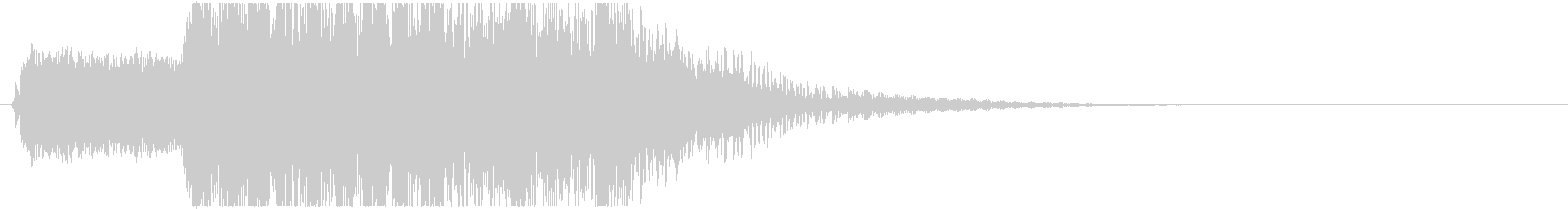 生演奏メタルなアイキャッチ20 デス声入の未再生の波形