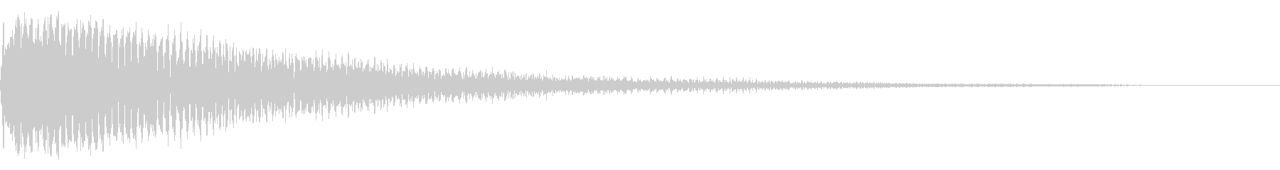ピアノショッキング音、インパクト音の未再生の波形