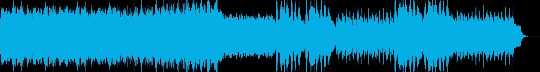 荘厳なオーケストラ曲の再生済みの波形