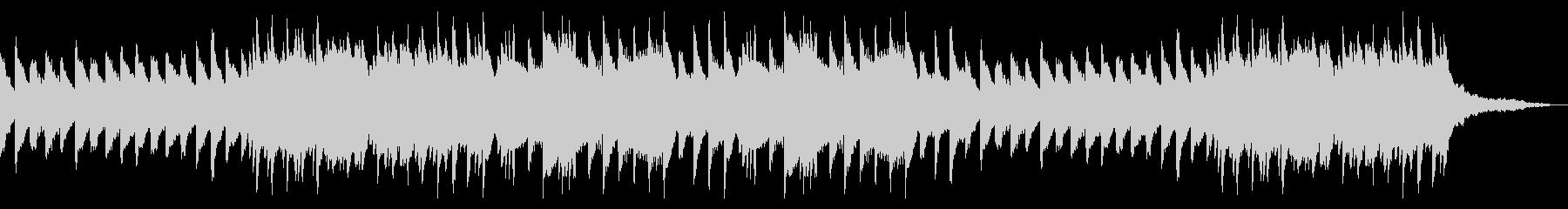 しっとり平坦なピアノBGMの未再生の波形