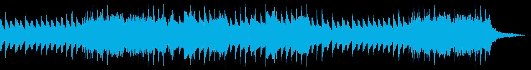 しっとり平坦なピアノBGMの再生済みの波形