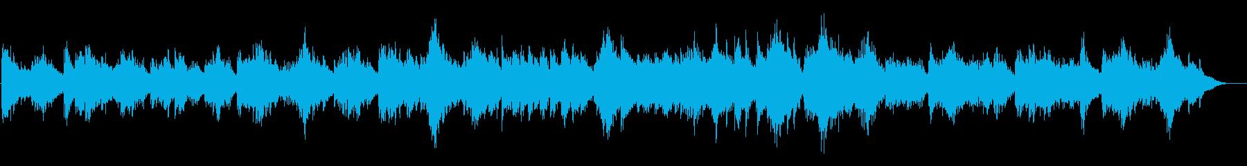 不思議な森の雰囲気のBGMの再生済みの波形