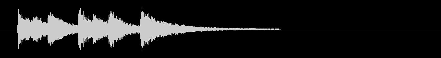ピアノによる場面転換・アイキャッチの未再生の波形