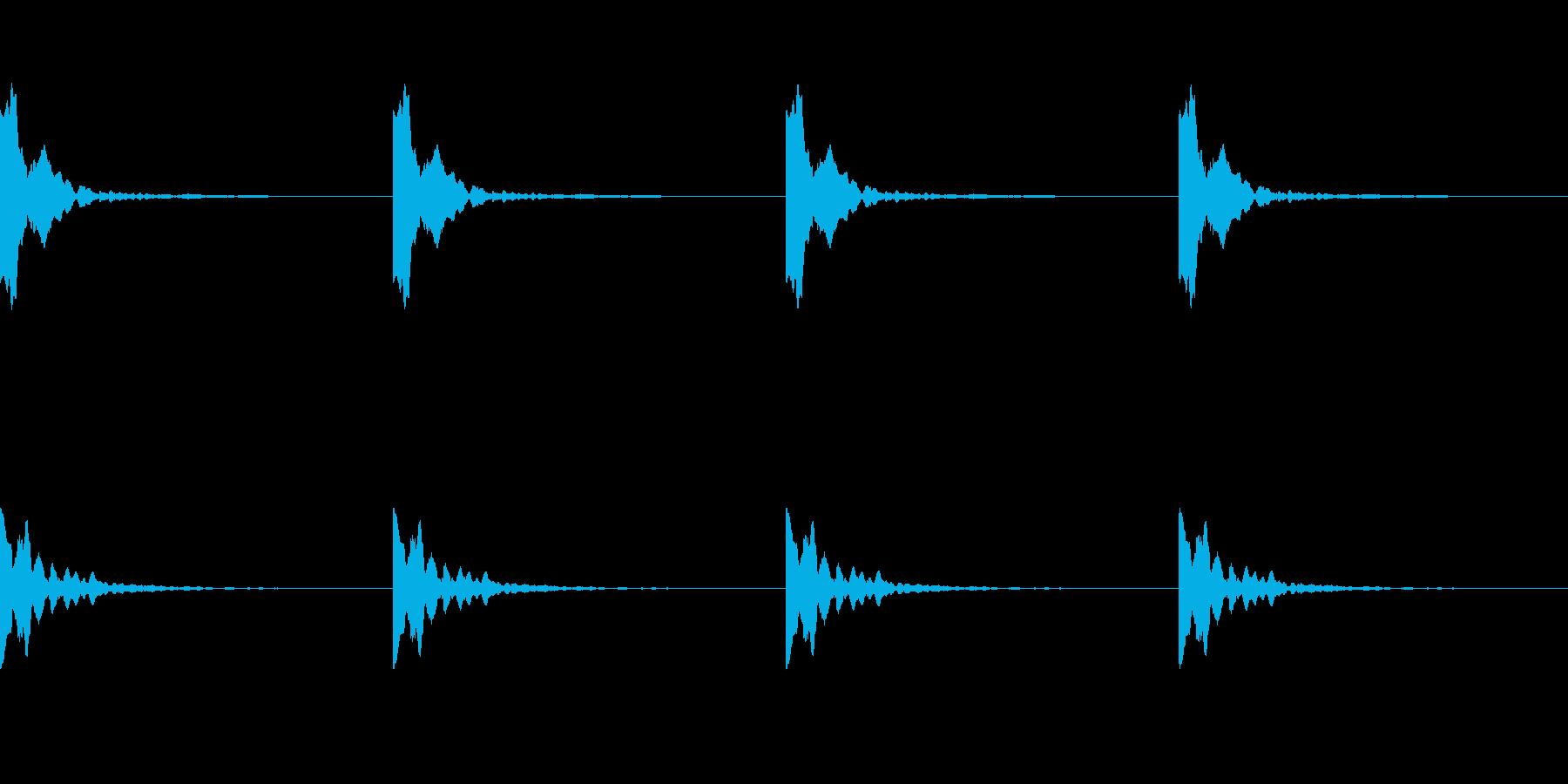 ポーン:ソナーのレーダー音(ループ可)の再生済みの波形