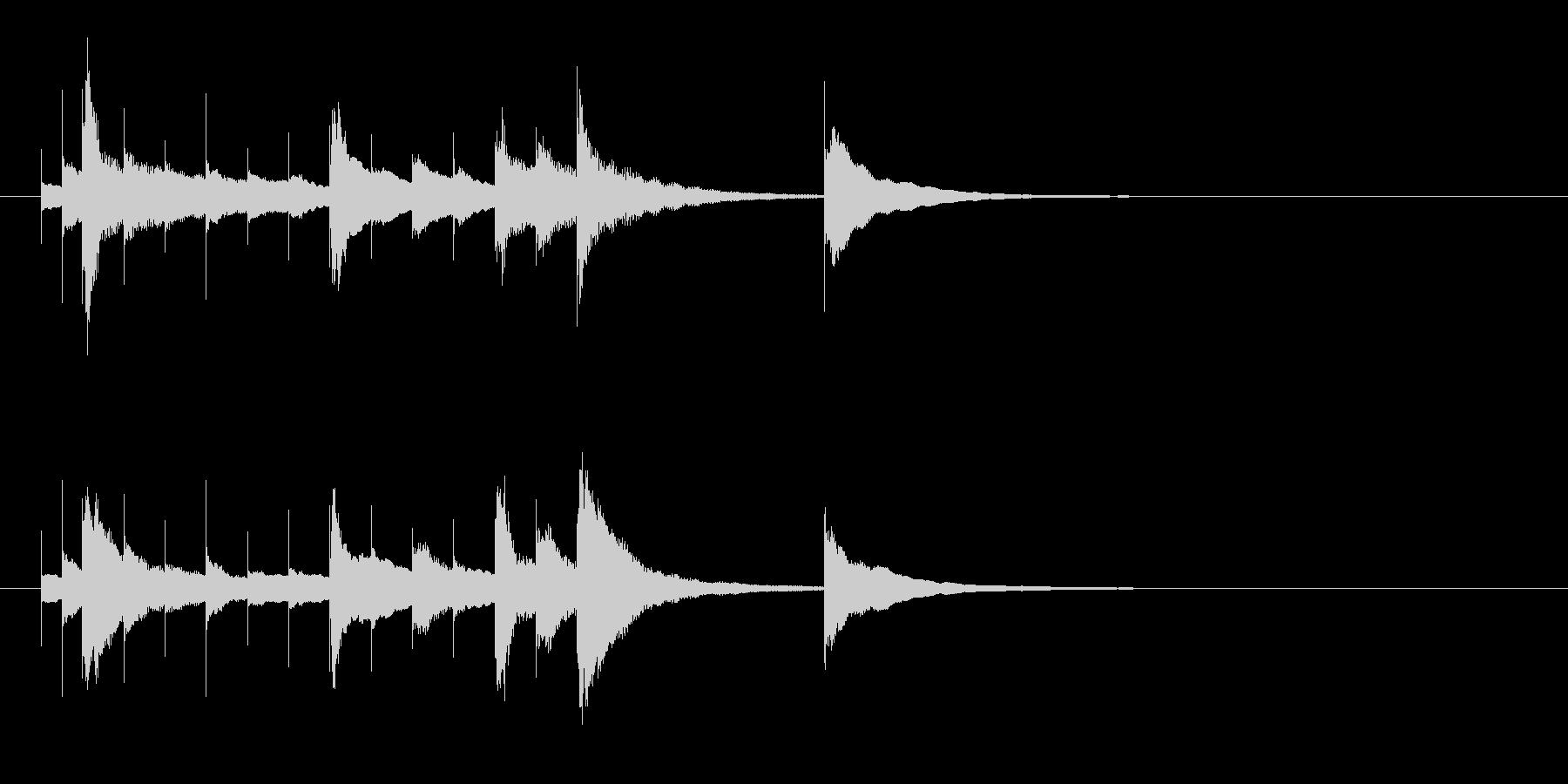 ベルのかわいいサウンドロゴの未再生の波形