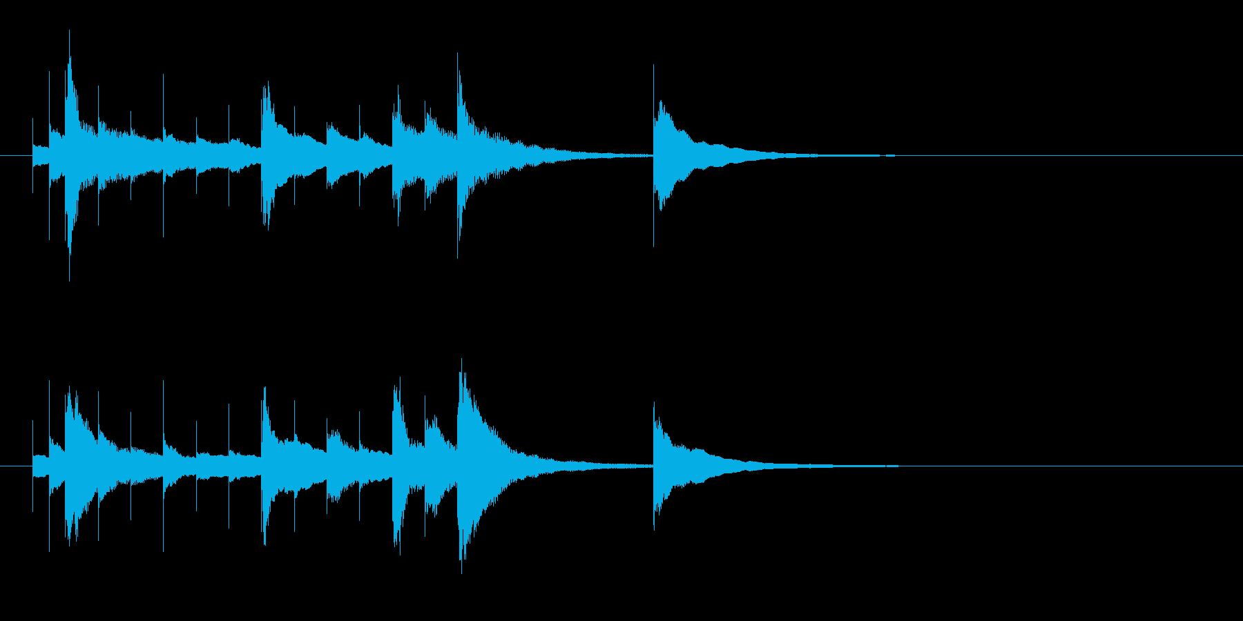 ベルのかわいいサウンドロゴの再生済みの波形