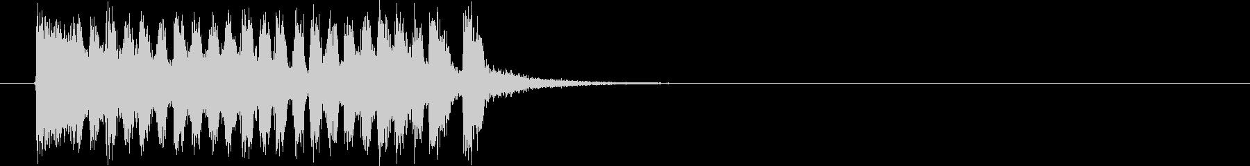 アップテンポな入場行進曲の未再生の波形