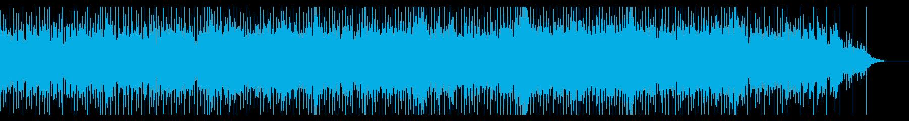何か良いことが始まりそうな爽やかな曲の再生済みの波形