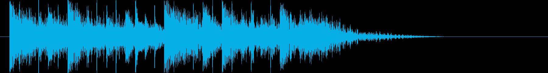 激しくハイスピードなデジタルロゴの再生済みの波形