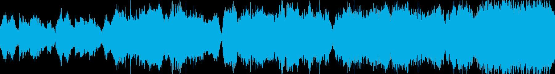 森のダンジョンで流れる神秘的な曲の再生済みの波形