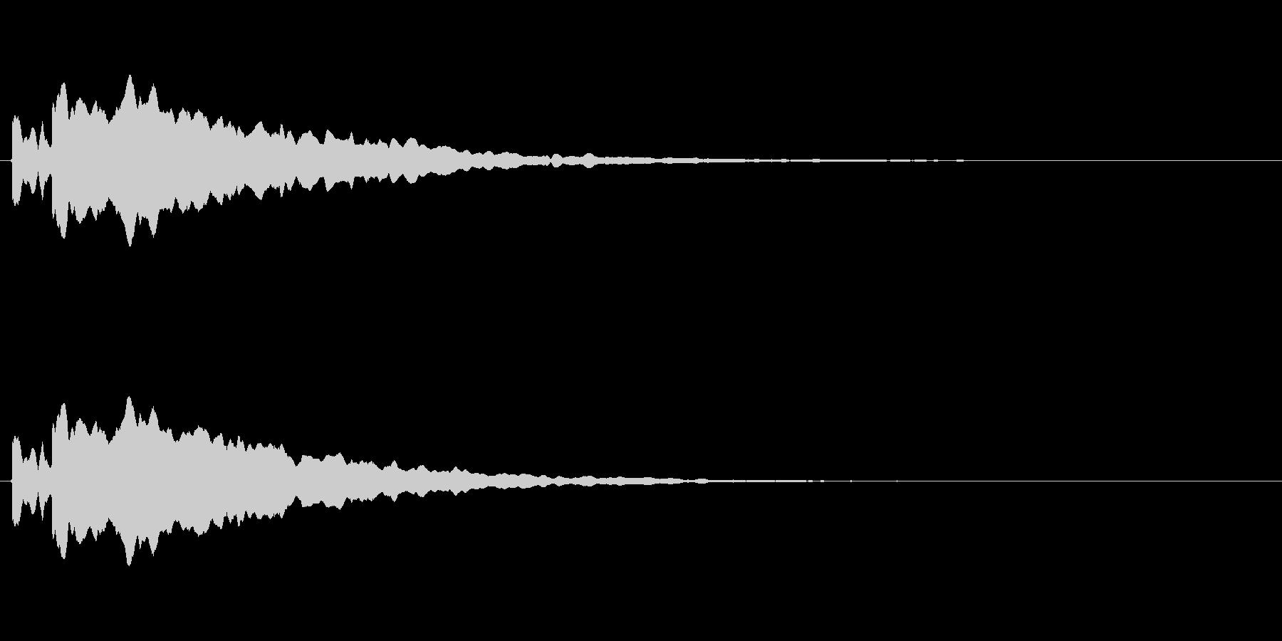 正解したときの音ですの未再生の波形