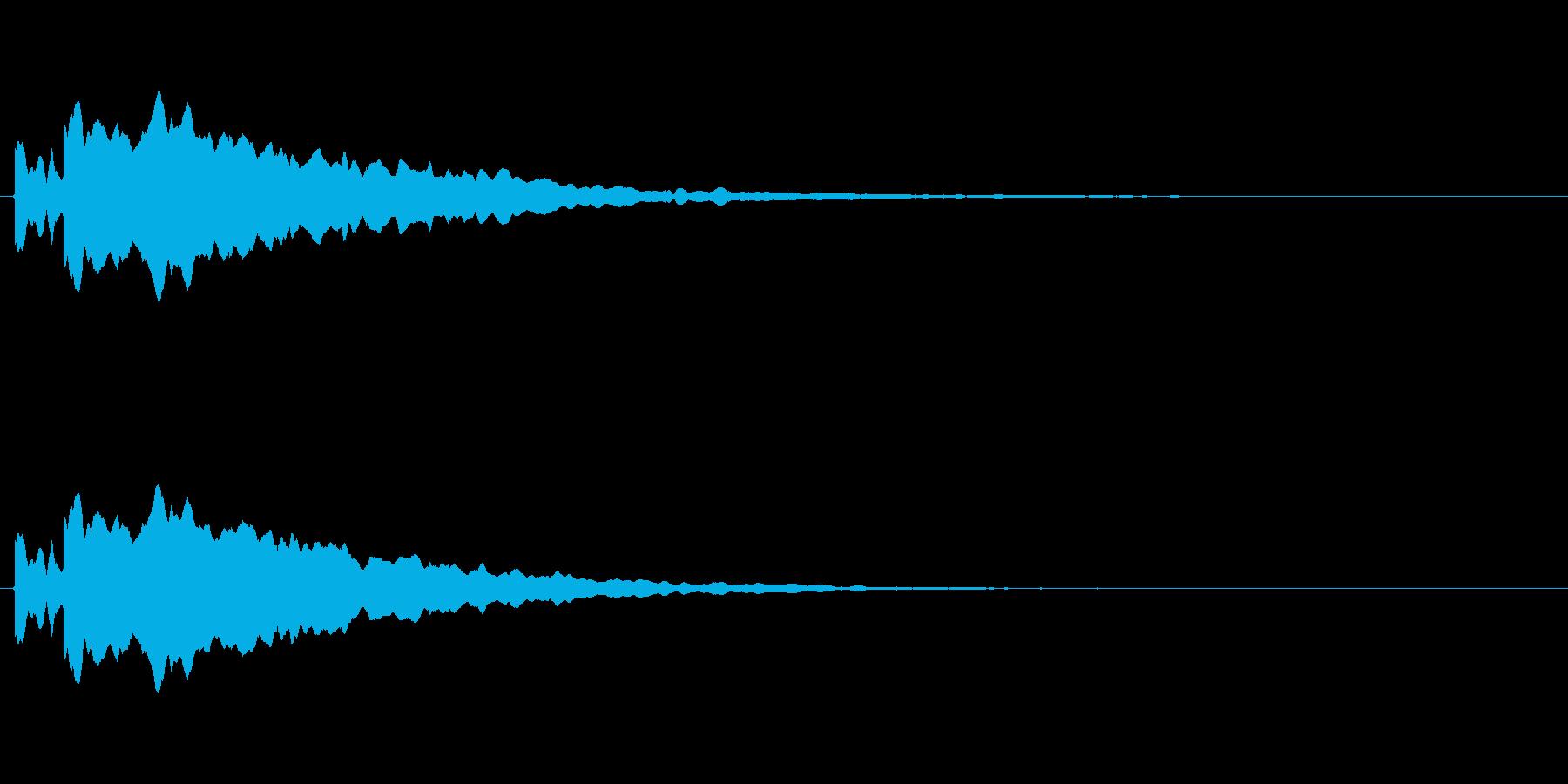 正解したときの音ですの再生済みの波形