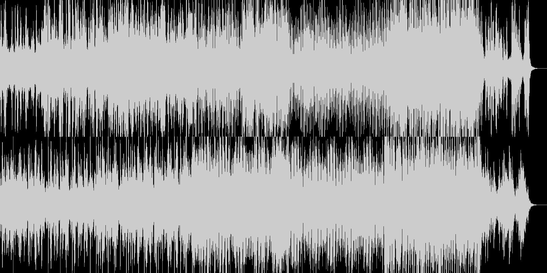 ミステリアスでビート感のあるBGMの未再生の波形