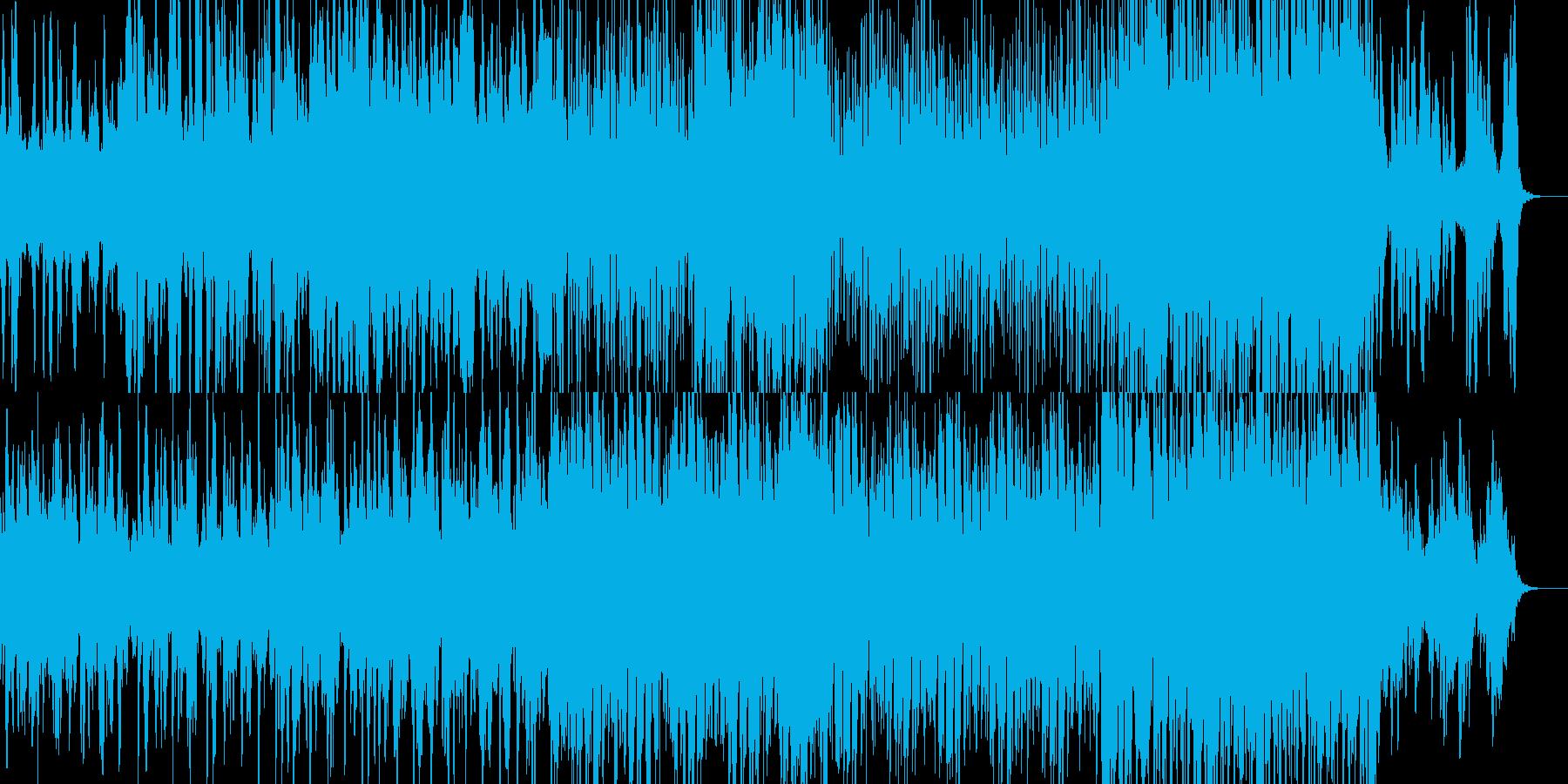 ミステリアスでビート感のあるBGMの再生済みの波形