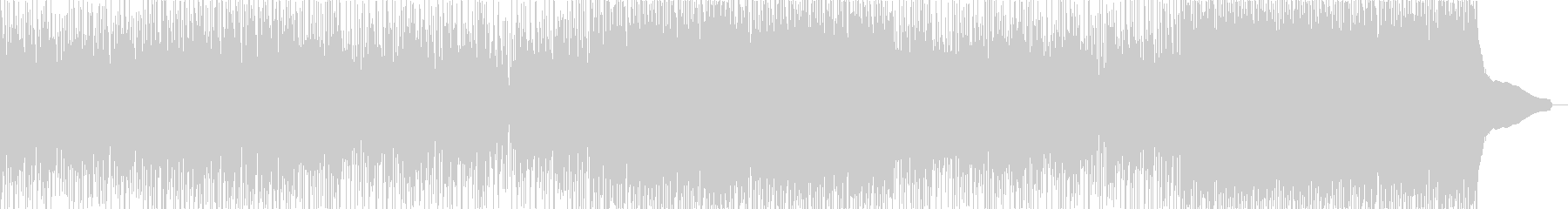 ホワイトデ―のメロウでファンタジックな曲の未再生の波形