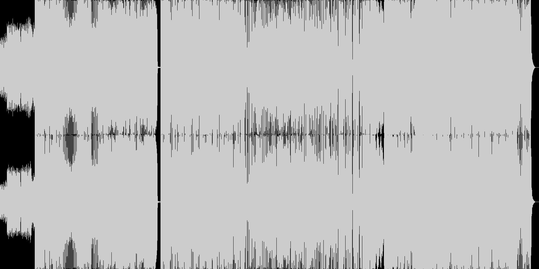 朝の爽やかさを表現したロック。 生演奏の未再生の波形