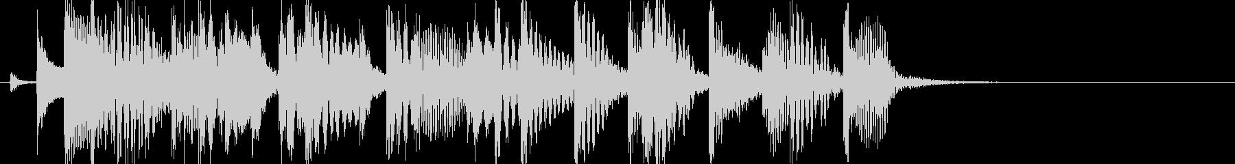 マリンバが印象的な、ほのぼの系ジングルの未再生の波形