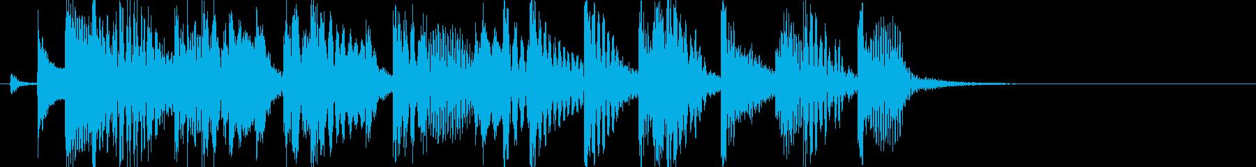 マリンバが印象的な、ほのぼの系ジングルの再生済みの波形