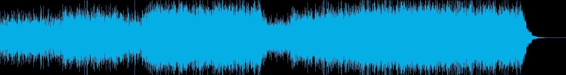 神秘的で少しダークなエレクトロニカの再生済みの波形