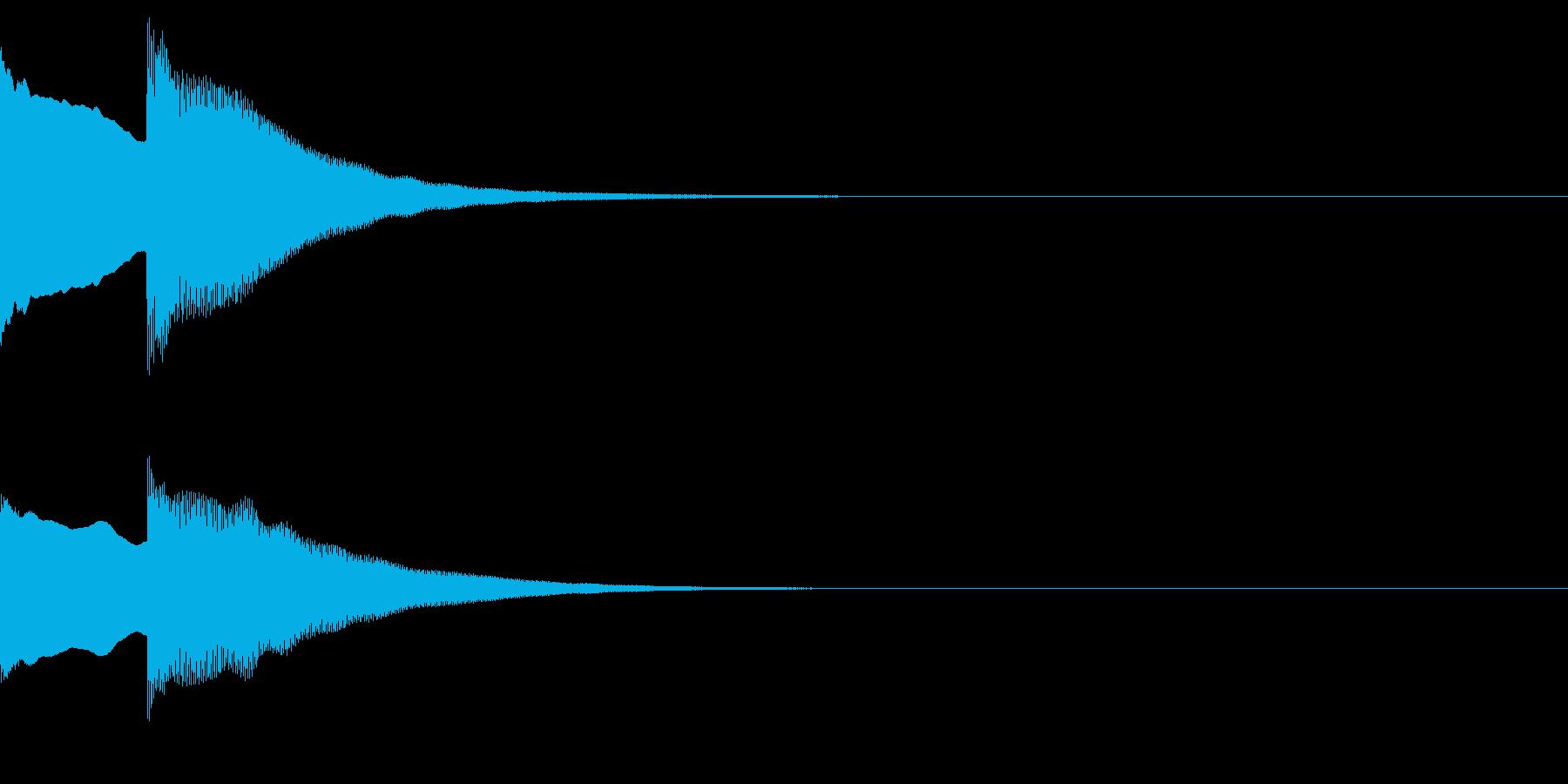 正解!の効果音1_ピンポン!の再生済みの波形