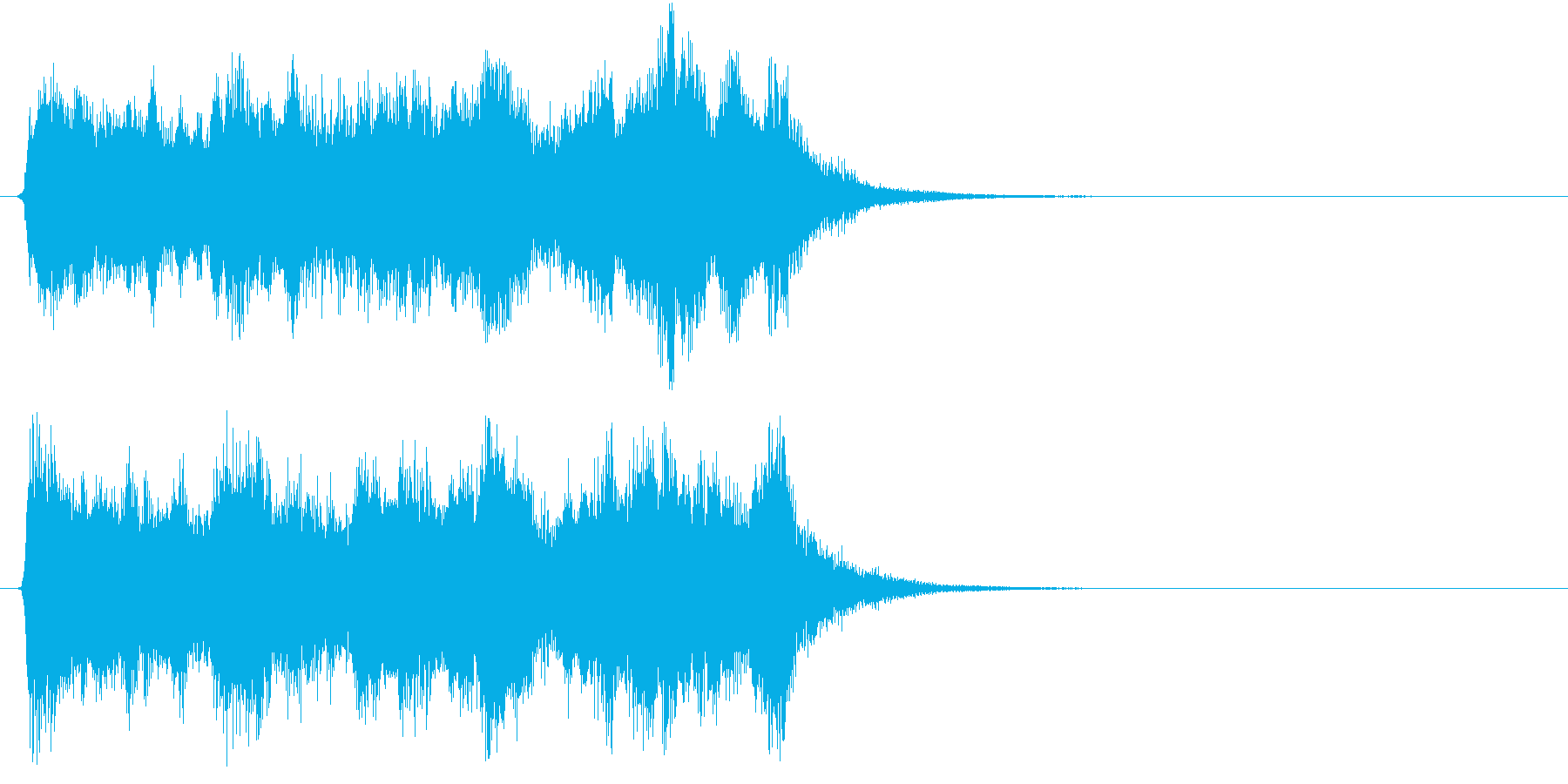 壮大で勝利感 オケのファンファーレ2の再生済みの波形