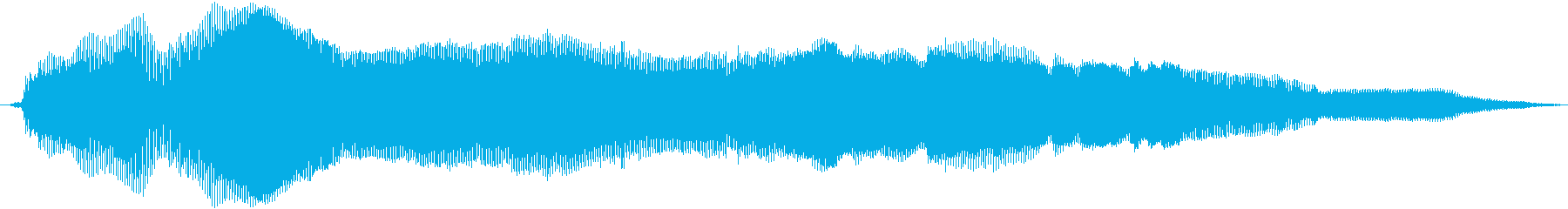 猫の鳴き声(甘えるような声 テイク1)の再生済みの波形