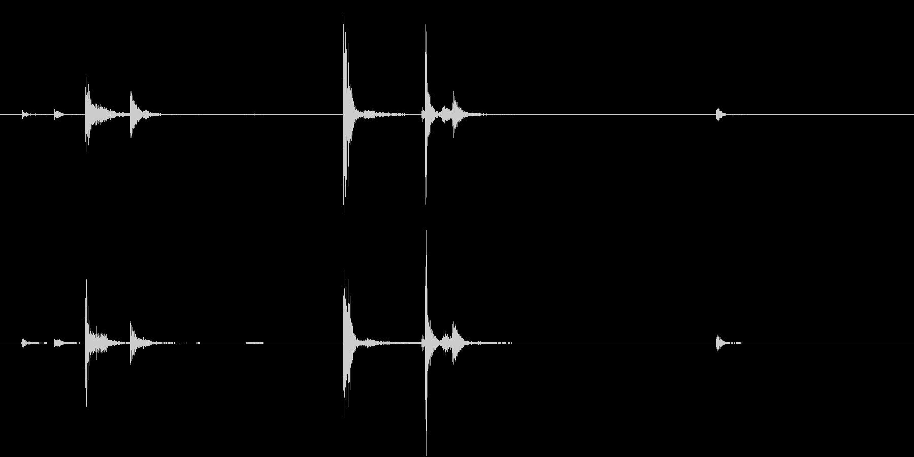 【生録音】お箸の音 40 一回かき込むの未再生の波形