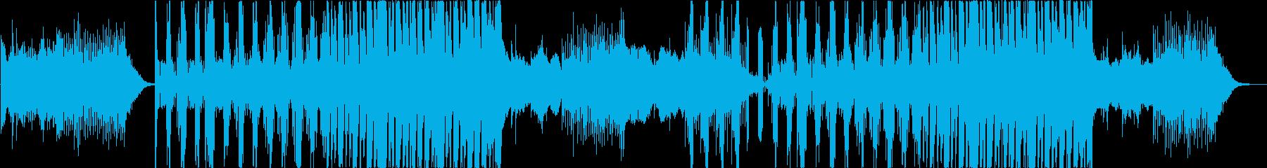 cool、近未来的、不思議さもあるEDMの再生済みの波形