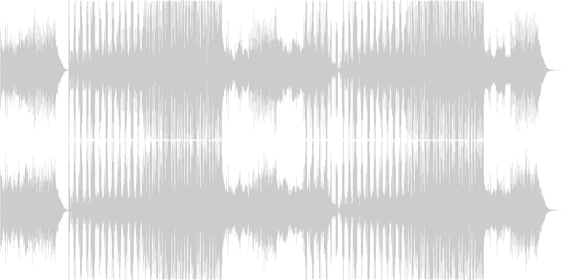 cool、近未来的、不思議さもあるEDMの未再生の波形