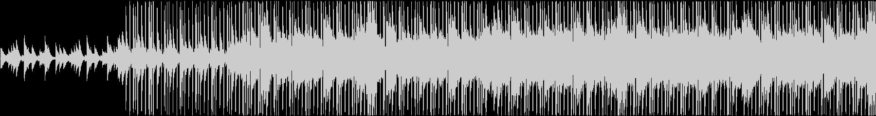 ピアノの旋律が心地よいヒップホップBGMの未再生の波形