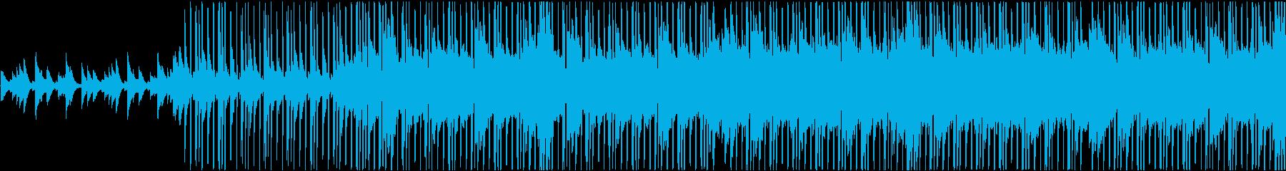ピアノの旋律が心地よいヒップホップBGMの再生済みの波形