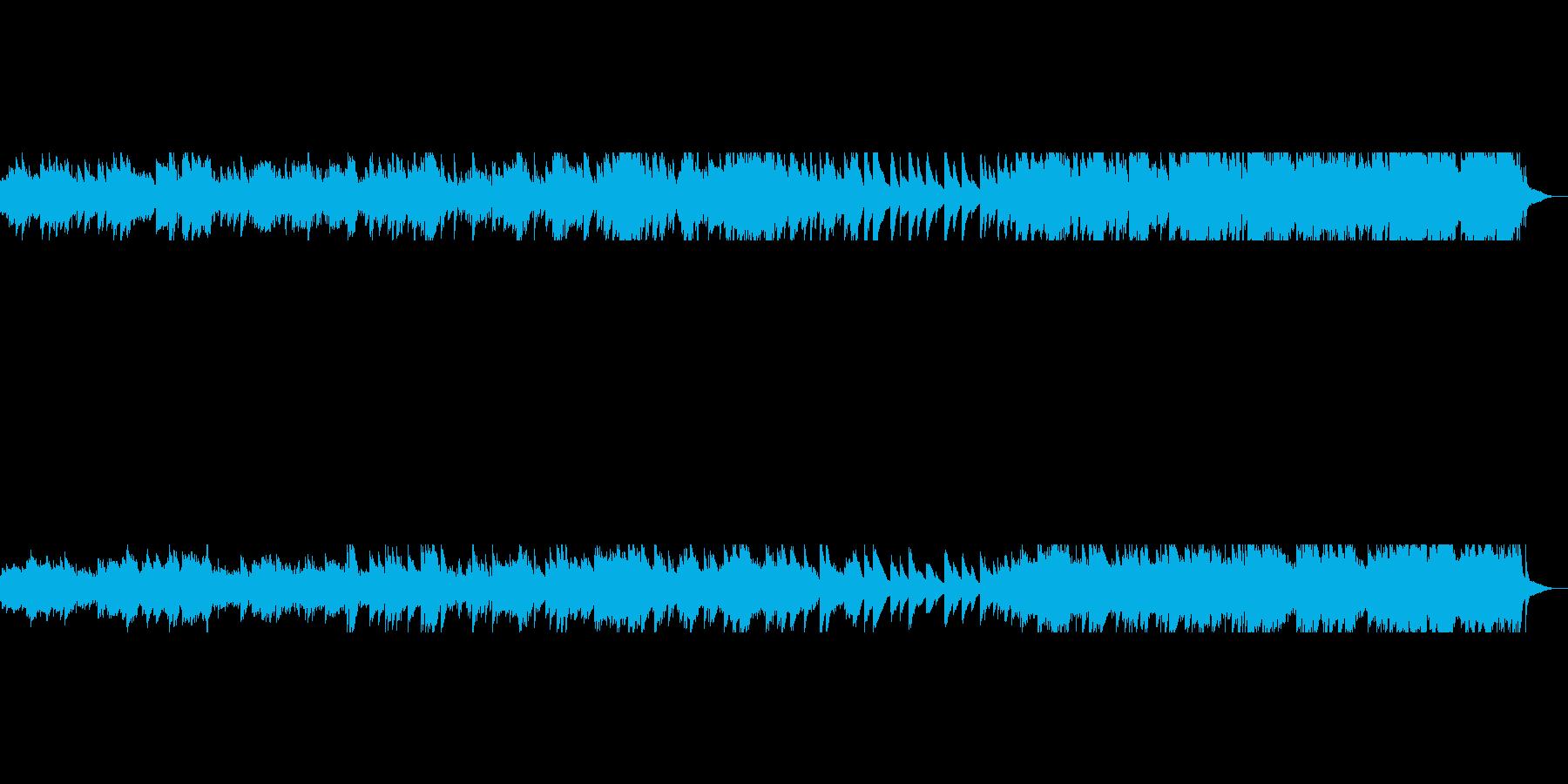 風を意識して作ったピアノソロ曲の再生済みの波形