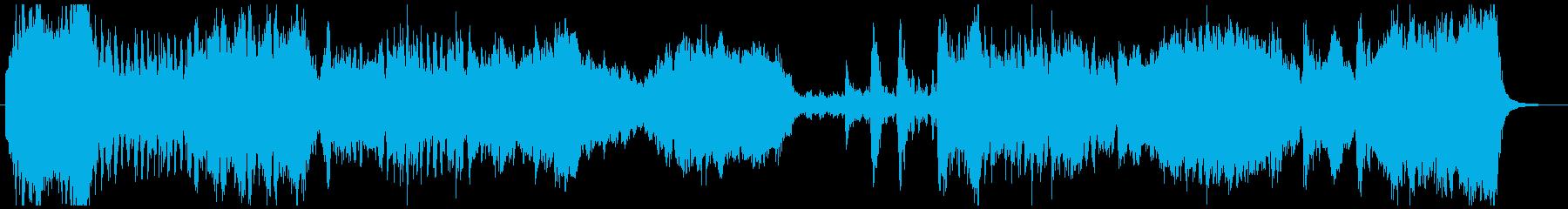 宇宙・侵略・戦闘なイメージのオーケストラの再生済みの波形