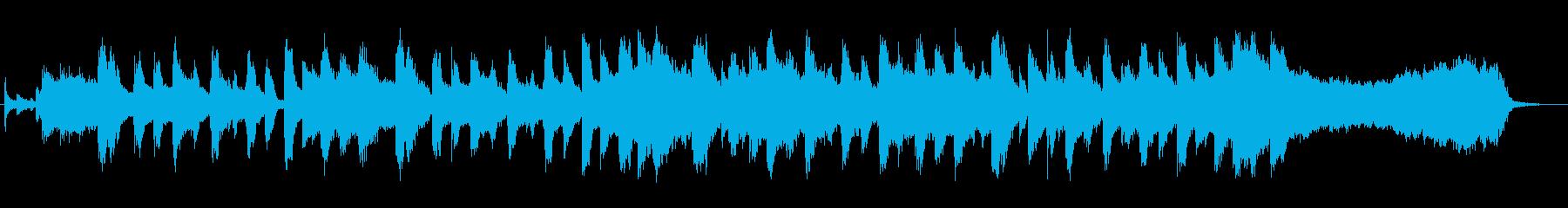 可愛らしいホーンとオルガンのマーチの再生済みの波形