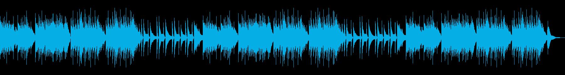 日本情緒を感じさせるゆったりピアノBGMの再生済みの波形