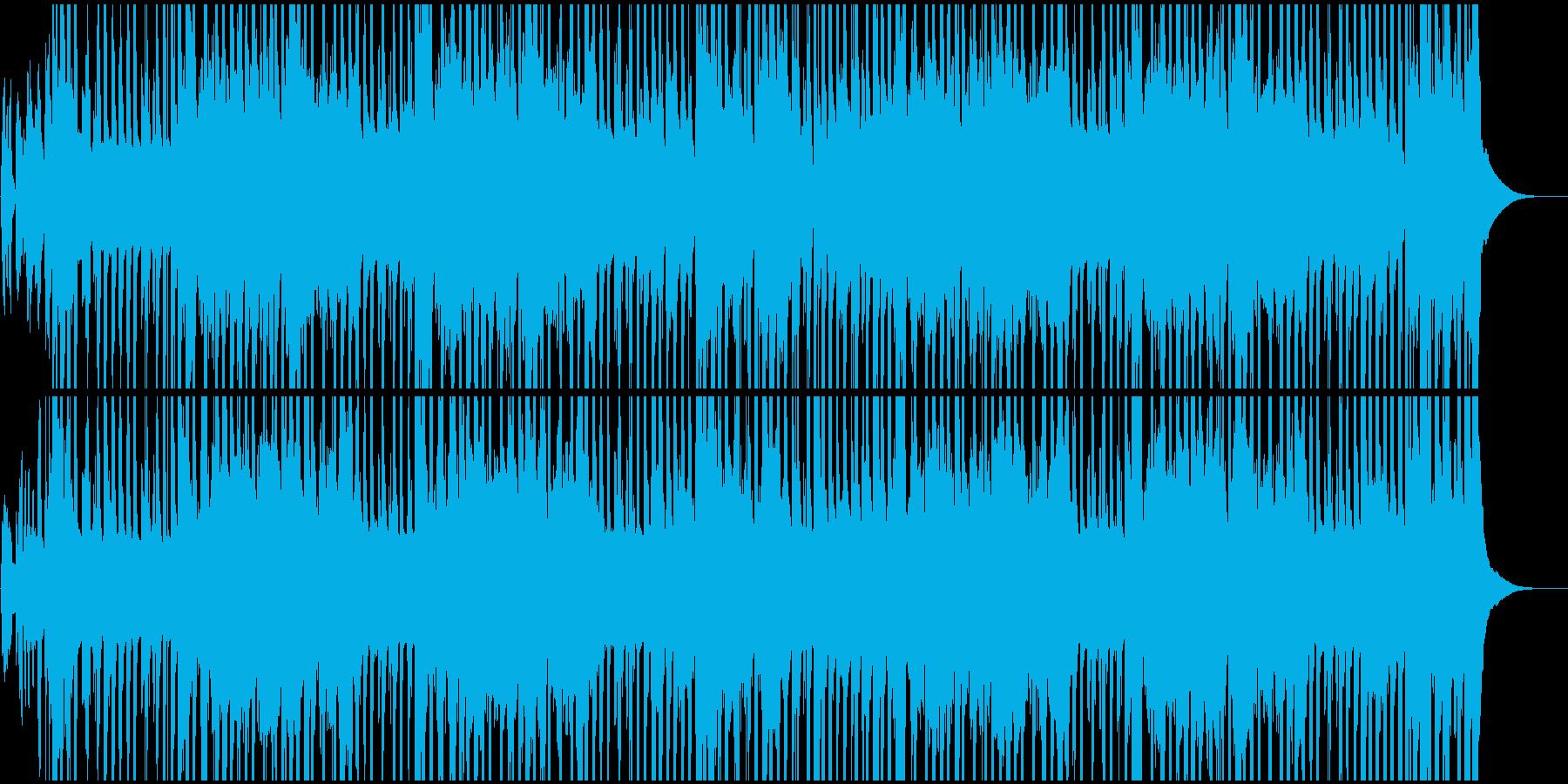 祭り囃子の現代風BGMの再生済みの波形