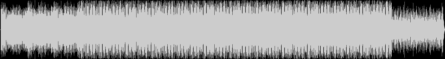 ワクワクする明るくリズミカルなBGMの未再生の波形