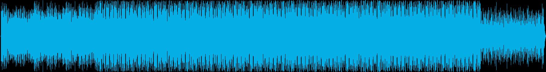 ワクワクする明るくリズミカルなBGMの再生済みの波形