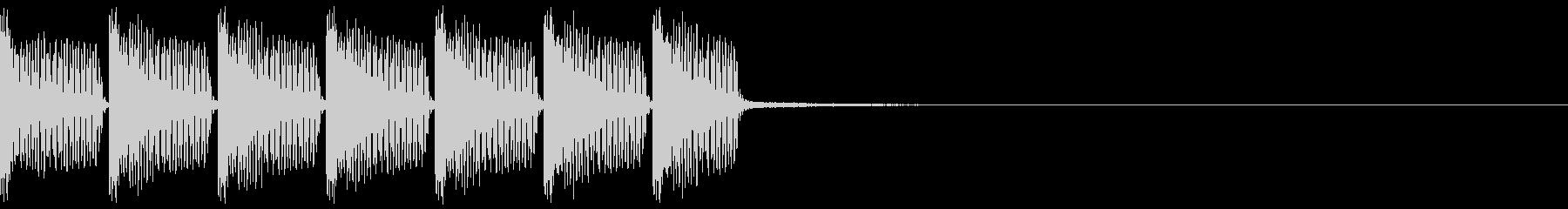 掛け声主体のEDMジングルの未再生の波形