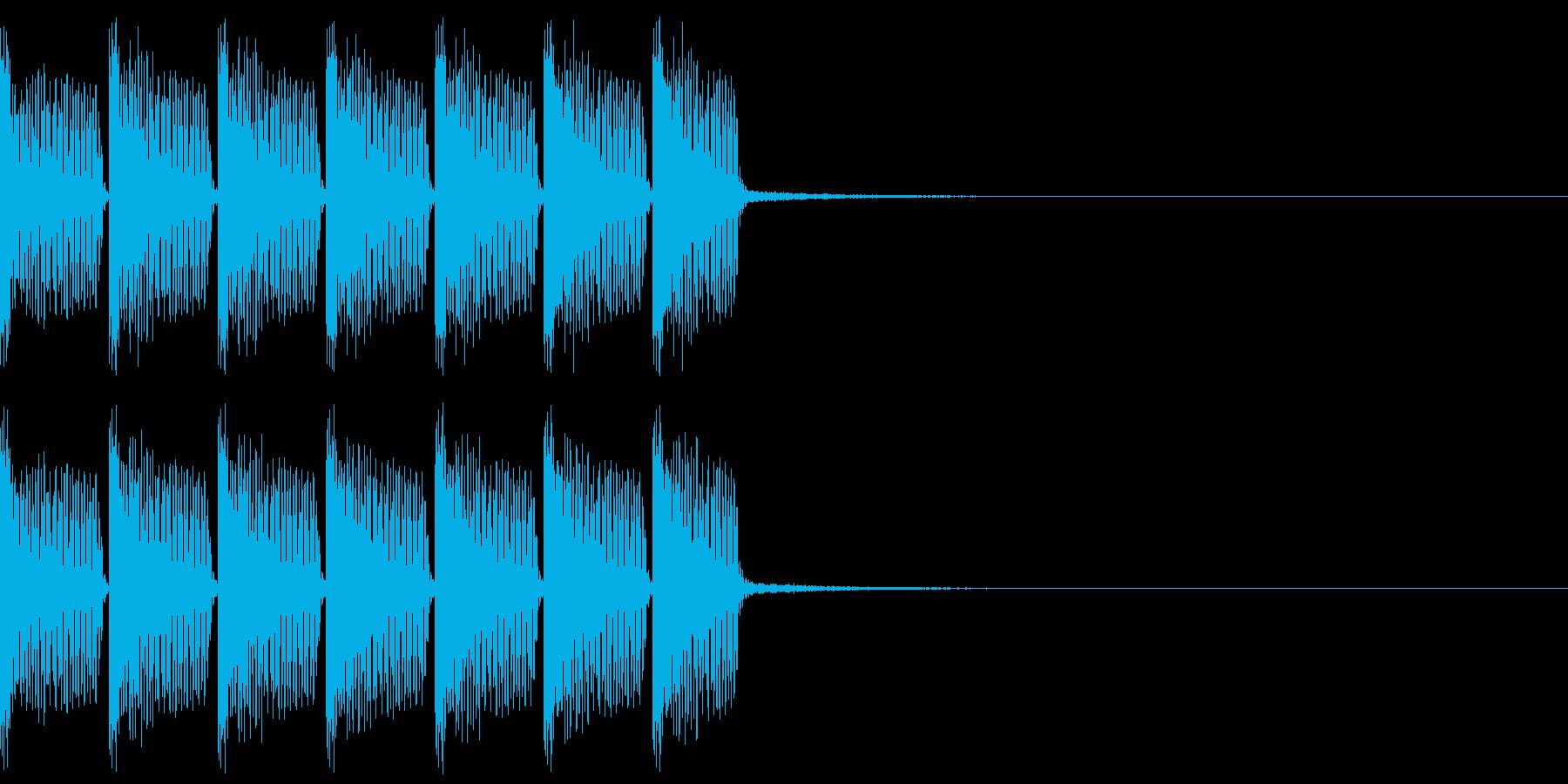 掛け声主体のEDMジングルの再生済みの波形
