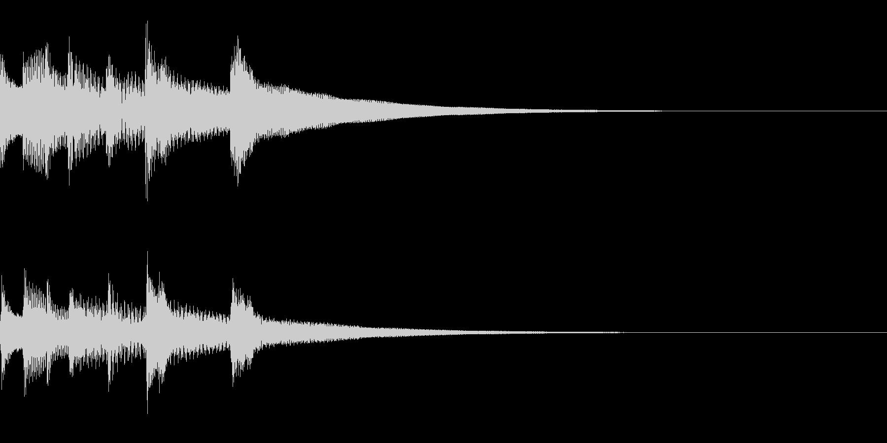 木琴とクラクションの場面転換ジングルの未再生の波形