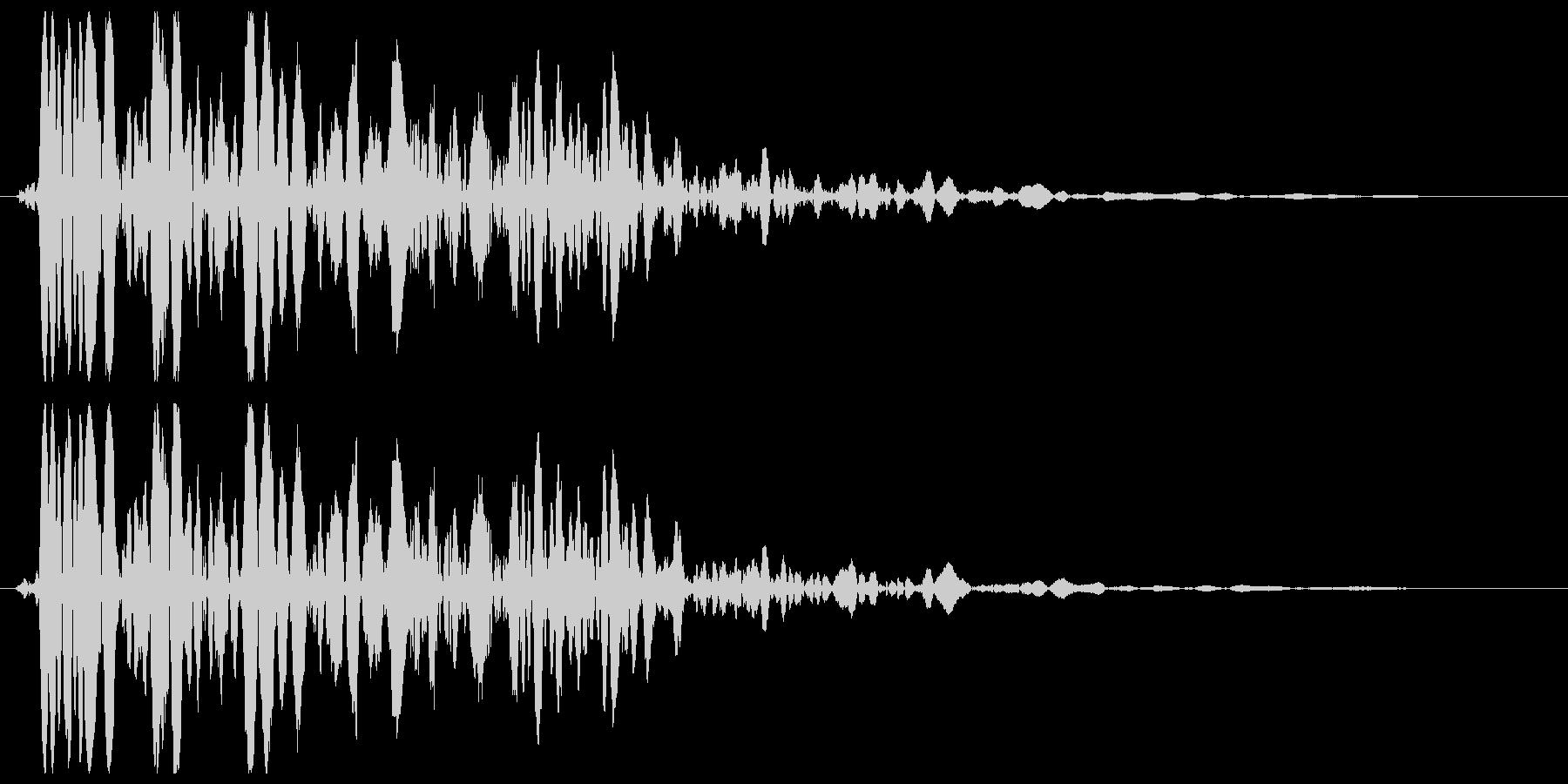ザザーン(雪や砂の効果音)の未再生の波形